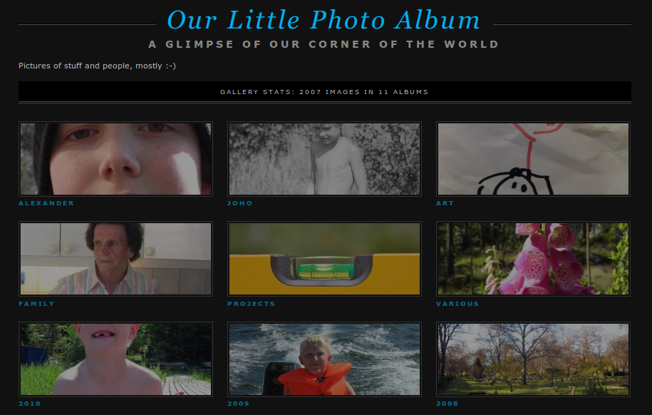 Finally a ZenPhoto theme worthy of being called a theme!