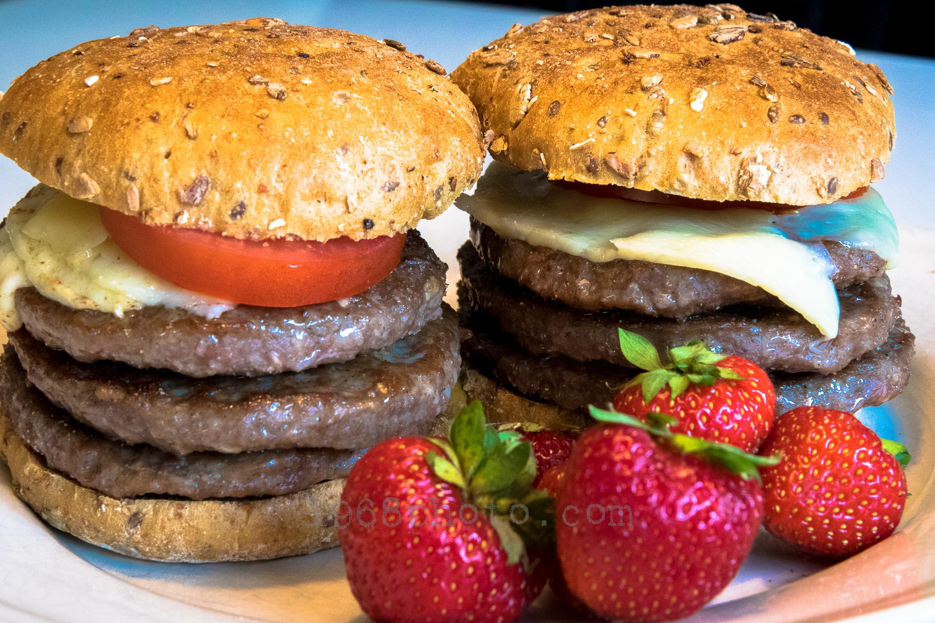Wendys enkelt hamburger
